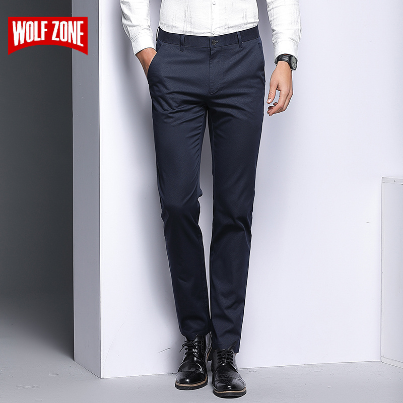 Summer Fashion Men Pants Slim Fit 2018 High Quality Stretch Casual Pant Men's Business Classic Formal Straight Office Trousers