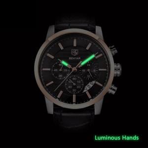 Image 3 - BENYAR Top Brand Luxury Stainless Steel Watch Men Business Casual Quartz Watch Military Wristwatch Waterproof Sport Relogio 2020