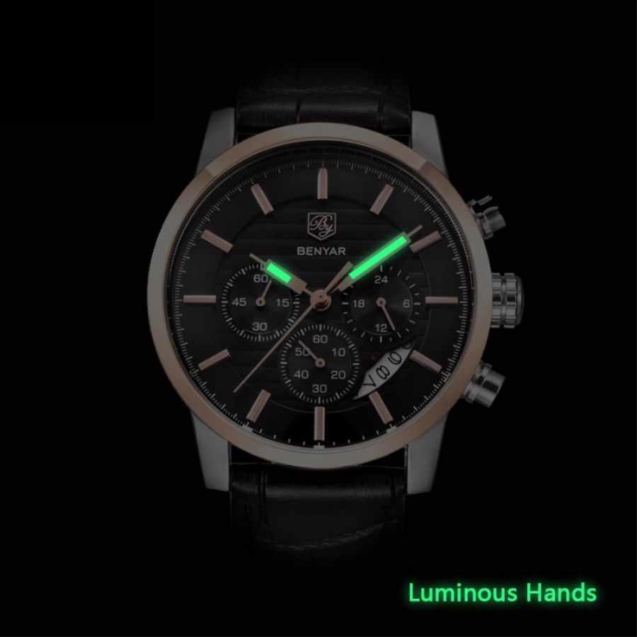 BENYAR часы мужские Топ люксовый бренд Кварцевые спортивные часы мужские Модные Аналоговые кожаные мужские водонепроницаемые наручные часы reloj hombre 2019