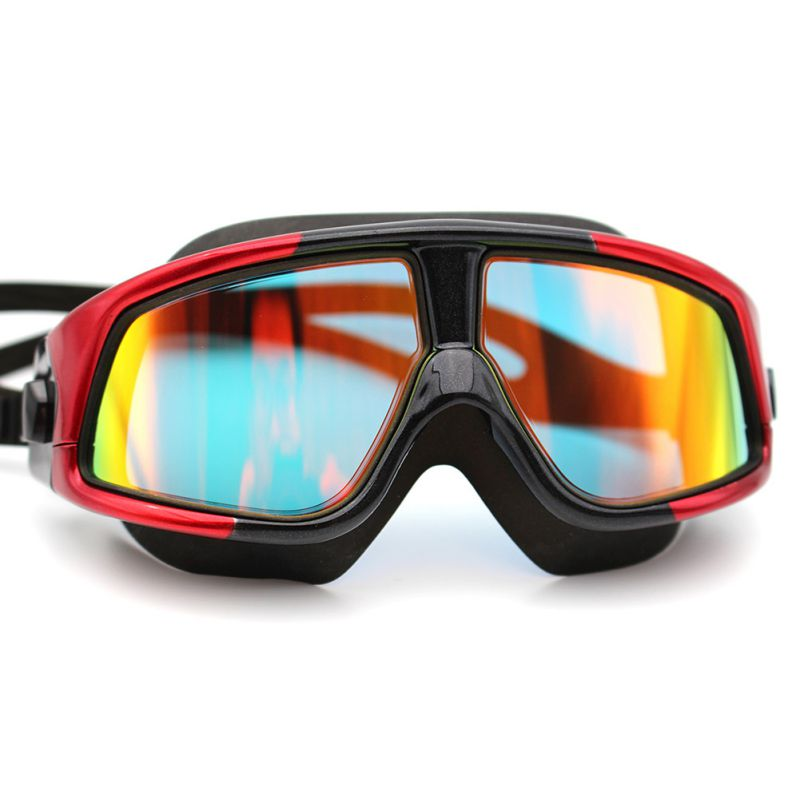 High-Definition waterproof fog prevent UV ultra-large box Professional swimming goggles (plating / polarized) wider visionN