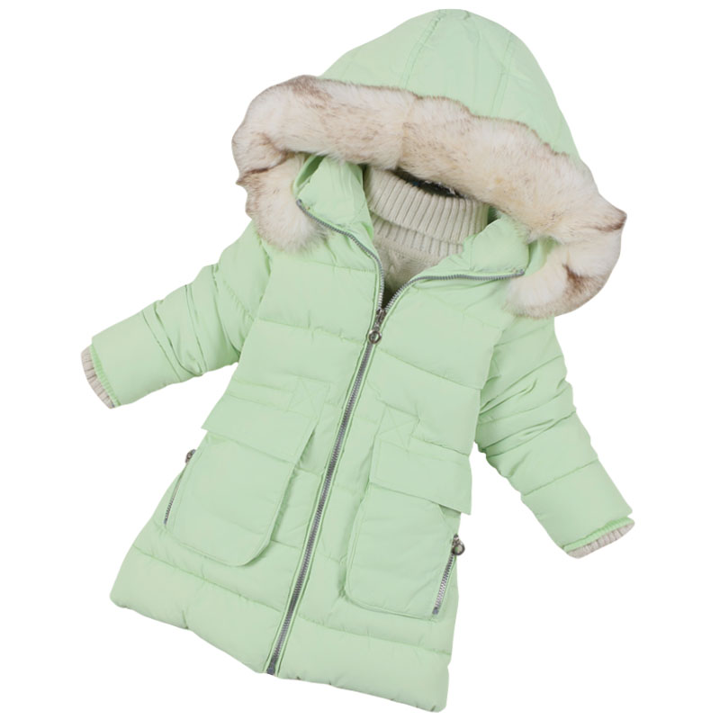 Winter Jacket For Girls Snow Wear Fashion Brand Children Outerwear Baby Girl Warm Jacket Fit Height 115CM-148CM