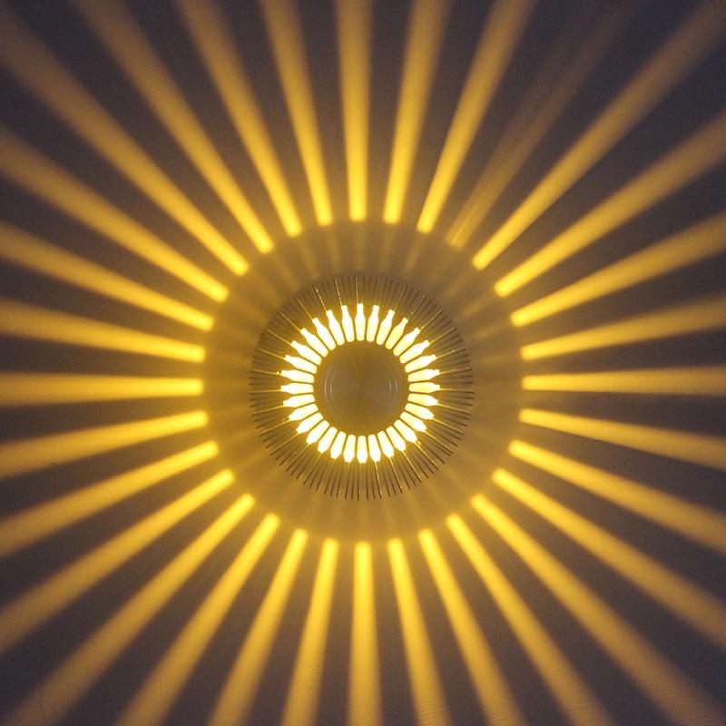 Moderne 3 Watt LED Wandleuchte Aluminium Led-beleuchtung Wandleuchte AC85-265V Innen Design Halterung für KTV Bar Wandbeleuchtung dekoration