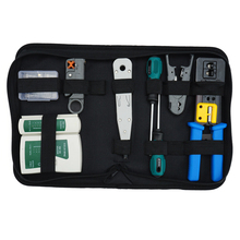 Network Tool Kit Set, Crimp Tool Rj45, Cat5 Cat6 Cable Tester Repair Wire Stripping Cutter, Rj45 Coax Plug Crimping, Rj11 Wire lm 022 2 in 1 network tool test crimping pliers tester crimping tool detachable cable tester automatic power saving