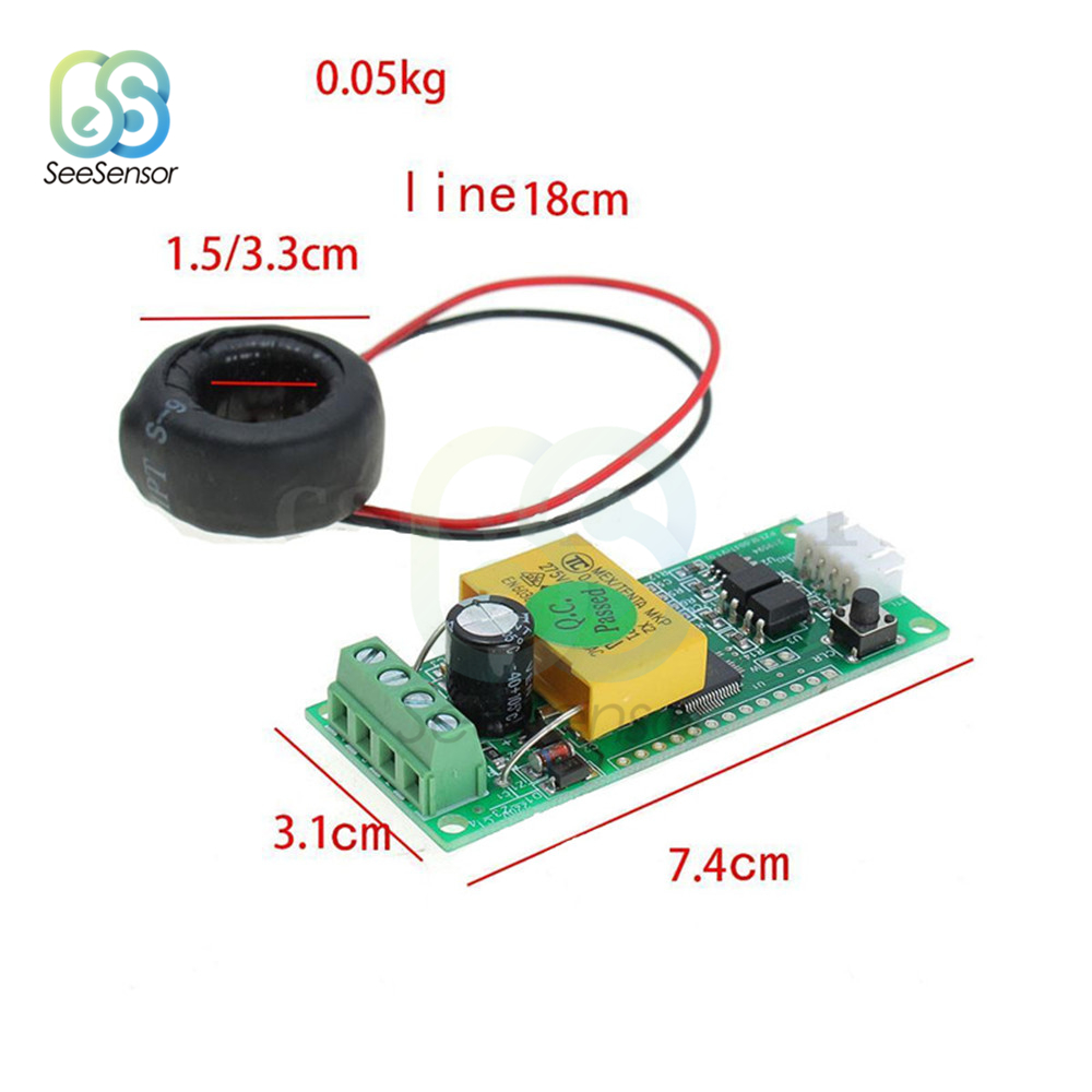 AC Digital Multifunction Meter Watt Power Voltage Current Test Module PZEM 004T For Arduino 0 100A 80 260V in Current Meters from Tools