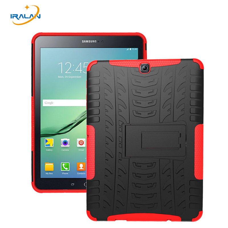 Hot Cover for Samsung Galaxy Tab S2 9.7 T815 Case Kickstand Hyun Pattern Silicone Cover for 9.7 inch T810 tablet + film+ stylus