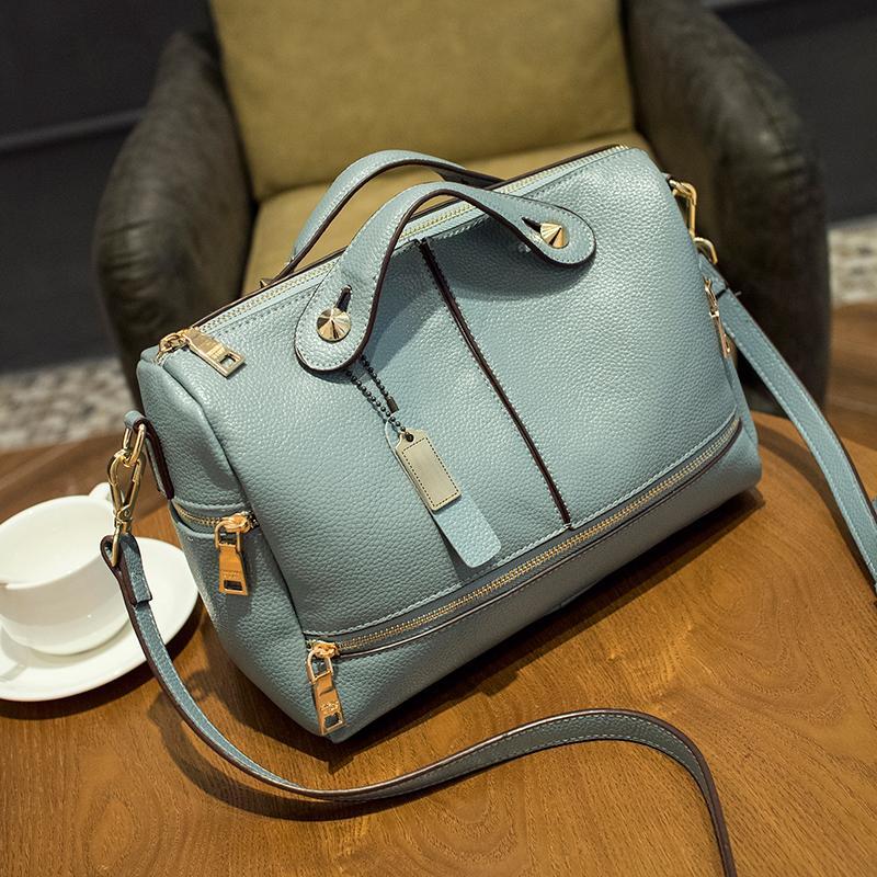 Women Top PU Leather Handbags Bolsa Femininas Women s Shoulder Bags Women  Purses And Handbags Ladies Handbags Famous Brand hot-in Top-Handle Bags from  ... d665d9af98