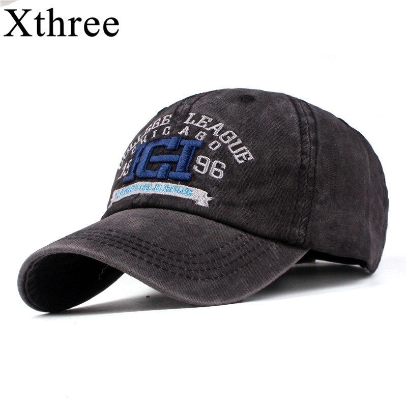 Xthree Neue männer cap baseball-hut für frauen mann snapback hut knochen gorras para hombre beisbol stickerei beiläufige kappe casquette