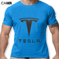 Tesla Men T Shirts Short Sleeve Round Neck Ringer Letter Printed New Arrival Male Tees Casual Boy t-shirt Tops Discounts