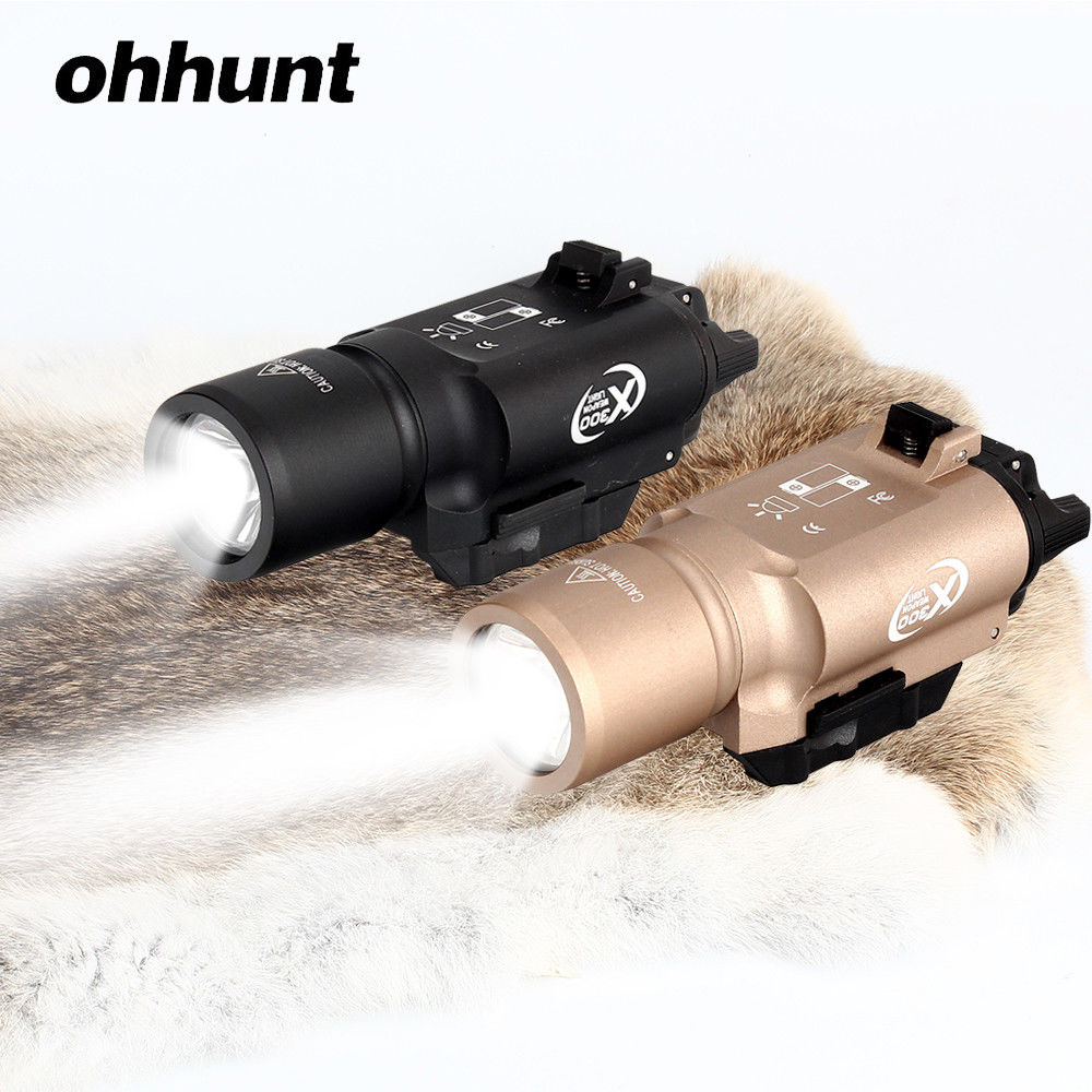 Tactique X300 Ultra pistolet pistolet lumière X300U 500 Lumens haut rendement arme lampe de poche Fit 20mm Picatinny tisserand Rail