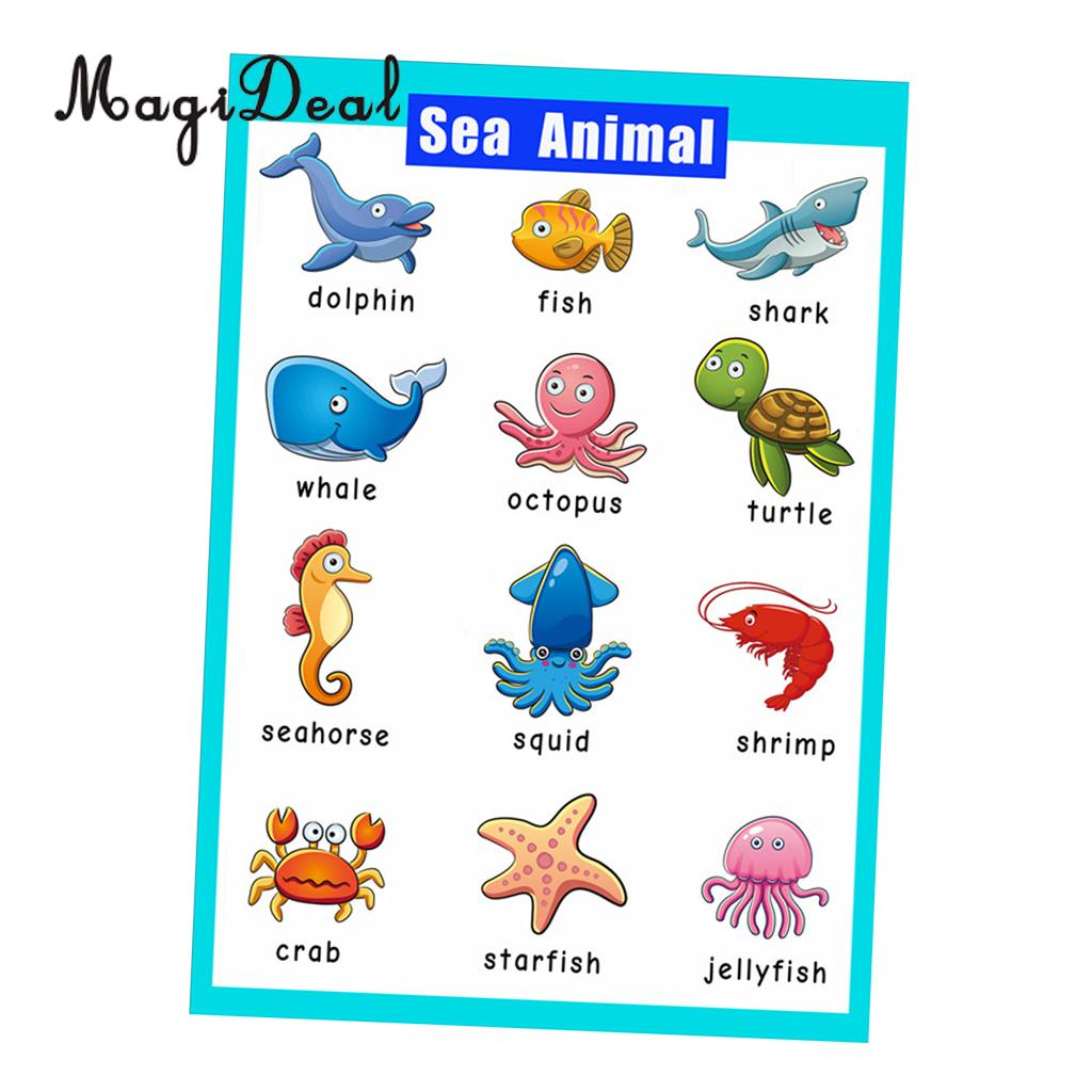 Magideal educational posters for toddlers inch  large kids learning wall also rh aliexpress