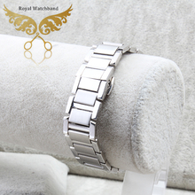 Unisex Straight End Stainless Steel Watch Band 16MM Silver