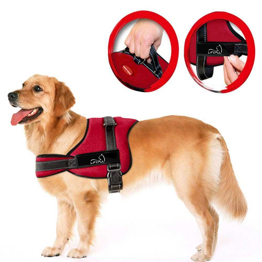 Nylon Dog Harness No Pull Dogs Harness Quick Control Service Pets Vest For Training Medium Large