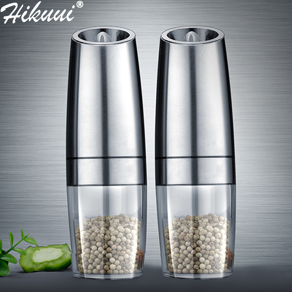 Salt-Grinder Mill Pepper Grinding-Core-Mill Kitchen-Tools Peper Led-Light Spice Electric title=
