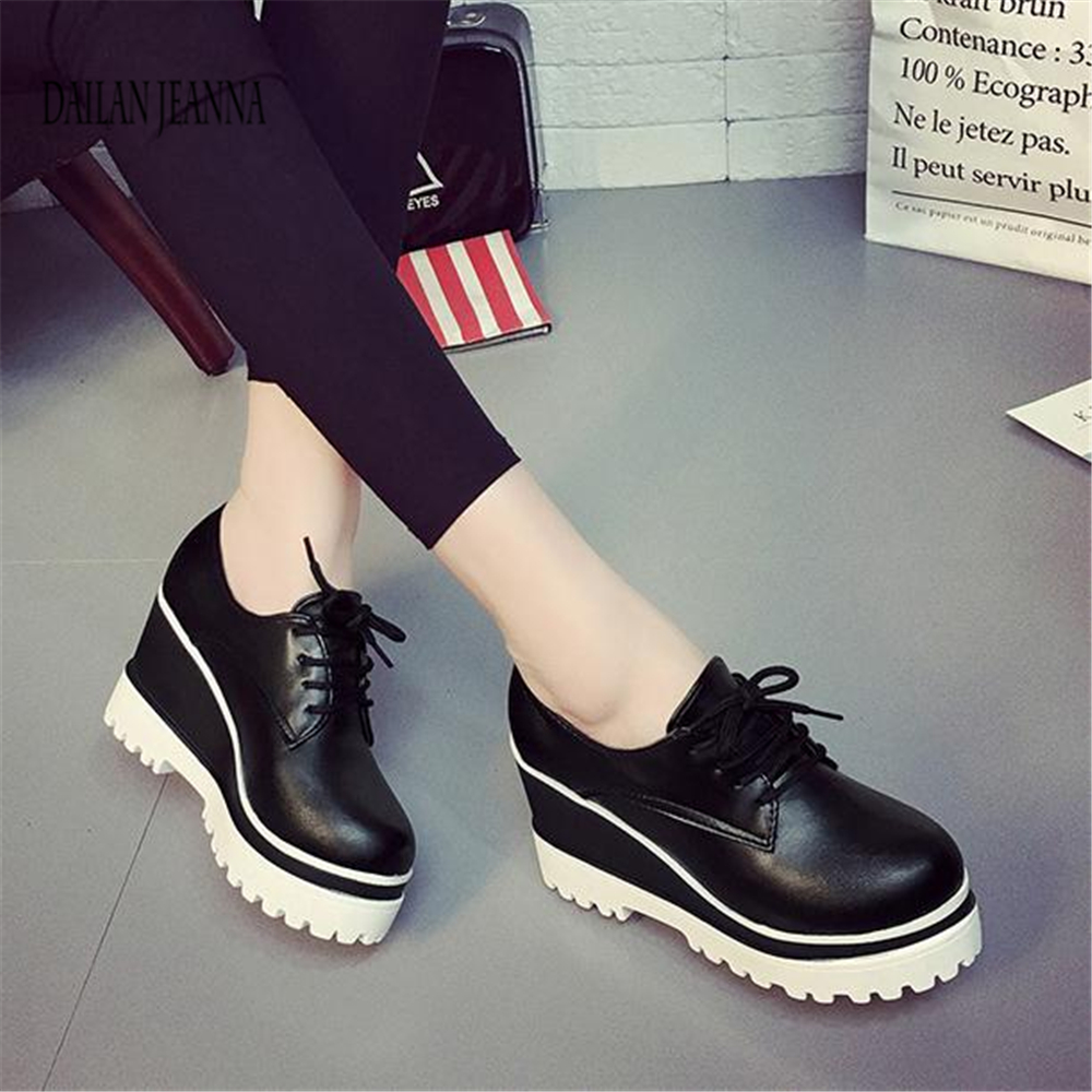 Image 5 - Spring 2018 new single shoe womens muffin shoes womens shoes high inside the thick solesWomens Pumps   -