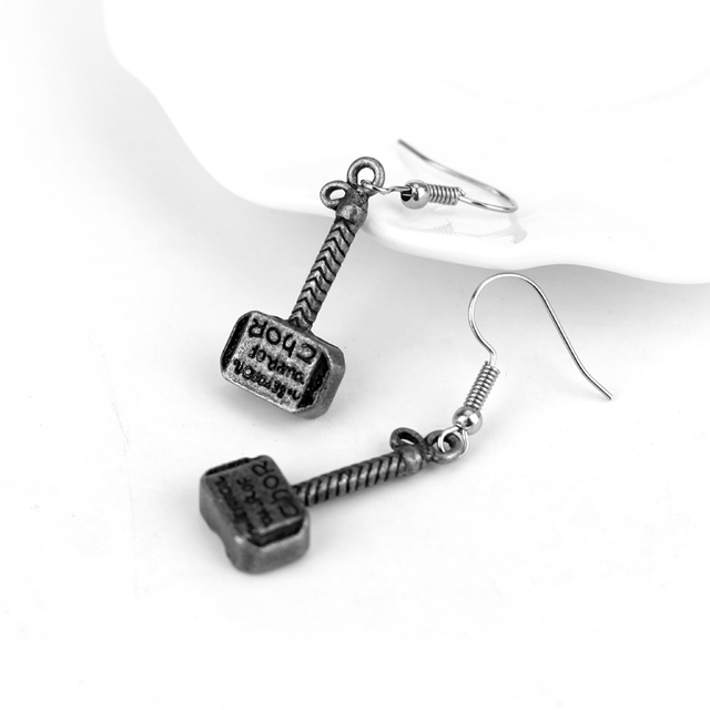 Thor Hammer Earrings Avengers Series Mini Hammer Drop