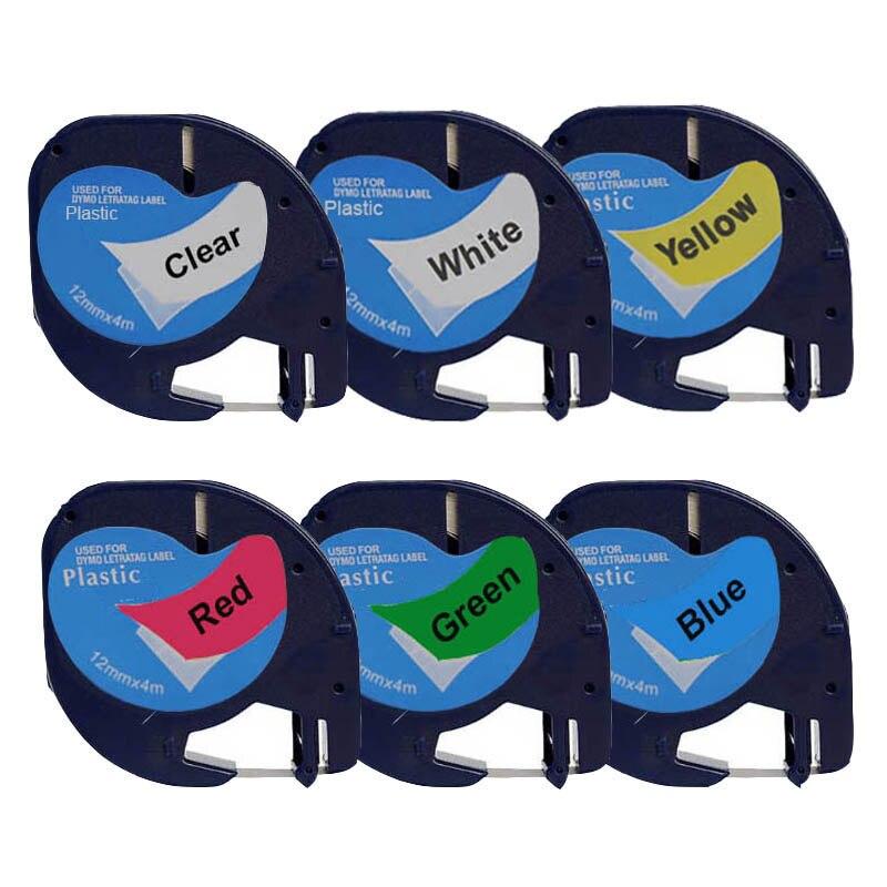Compatible pour Dymo LT-100H imprimante d'étiquettes portable pour Dymo Letratag recharges d'étiquettes LT 12267/91200/91201/91202/91203/91204/91205/ - 3