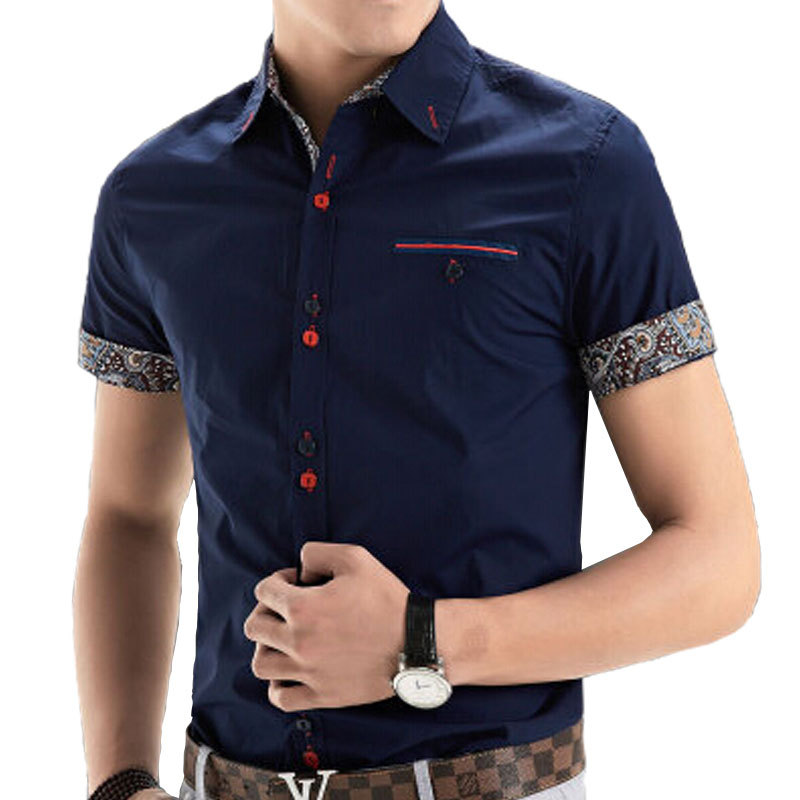Aliexpress.com : Buy 2015 New Brand Mens Dress Shirts Short Sleeve ...