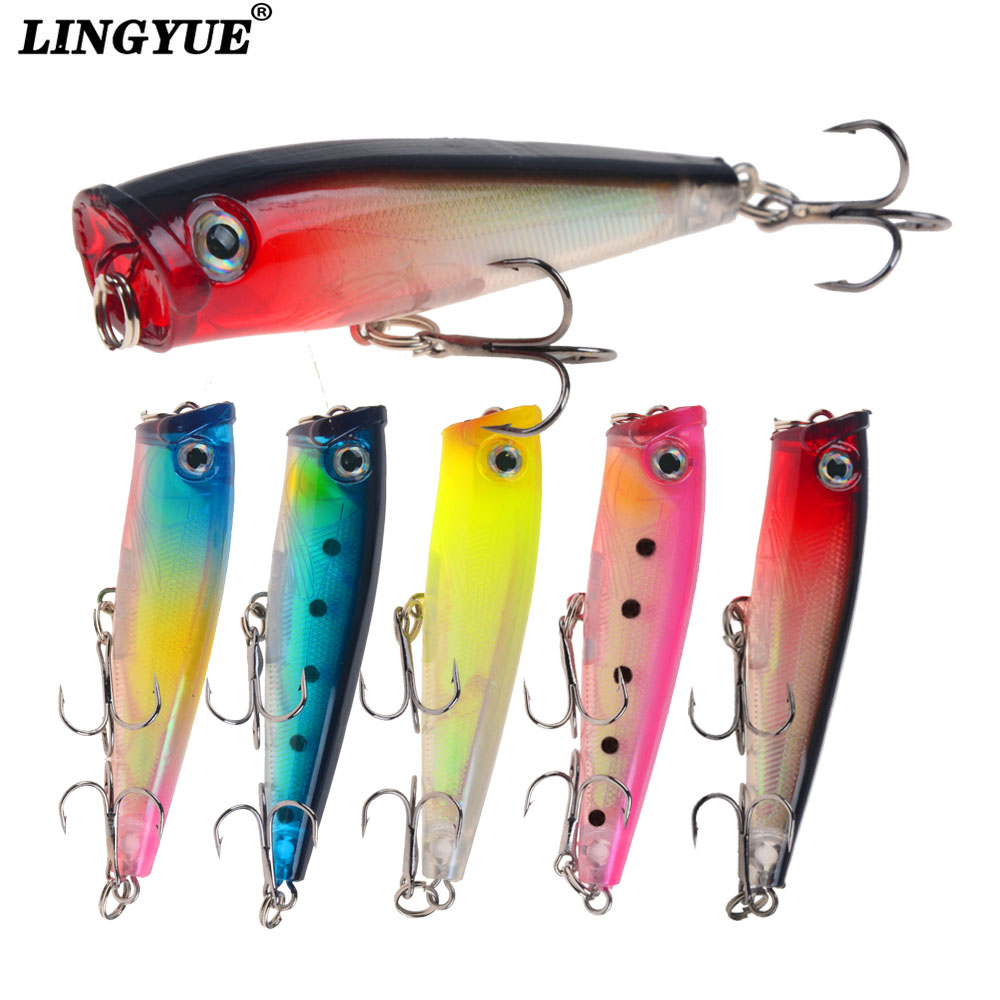 Small Popper Lure Trout Lures Pony Fishing Lure Topwater Bait Finesse Crankbait Wobbler Minnow Isca Poper Pesca 6.5cm/6.5g