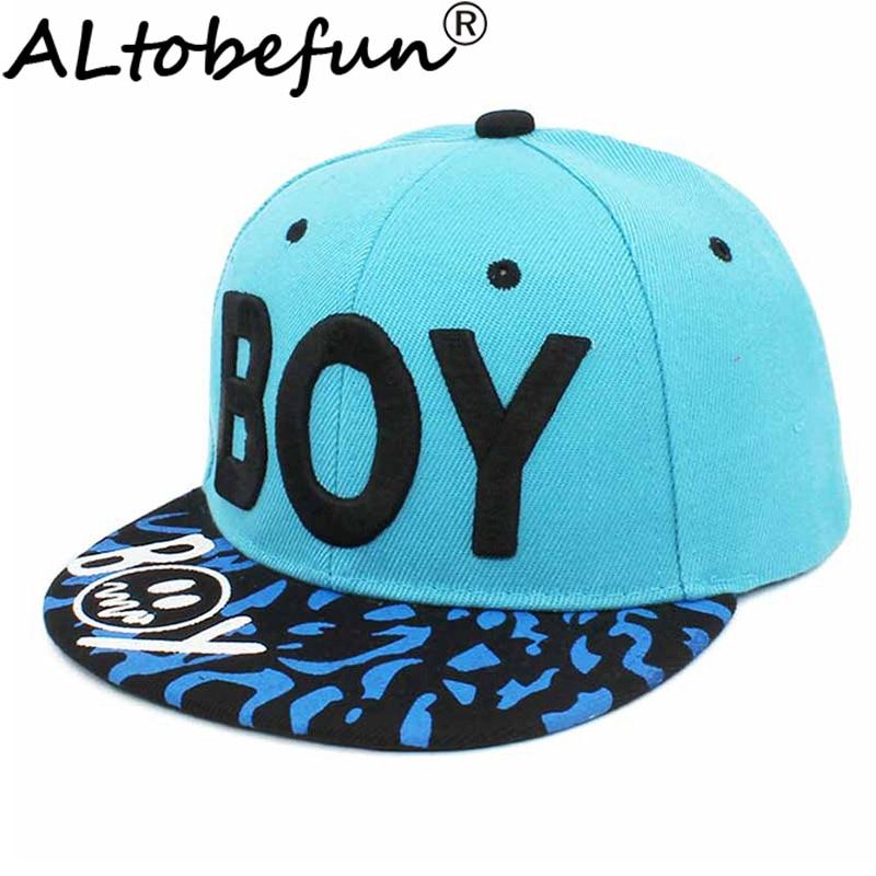 ALTOBEFUN Children Snapback Cap Spring Summer 3-8 Years Old Kid Sun-shading Boy Baseball Cap Adjustable Girl Hip Hop Hat CC904