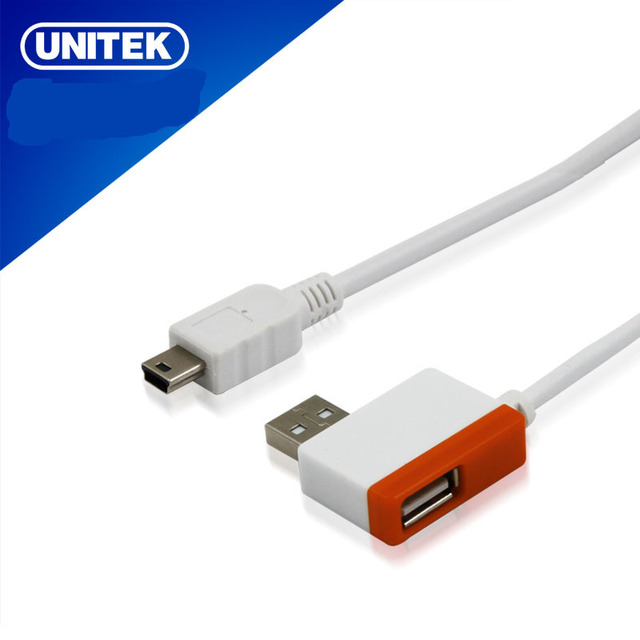 Free Shipping USB2.0 A male to mini 5pin patch cord extension A female hub Y-2012.