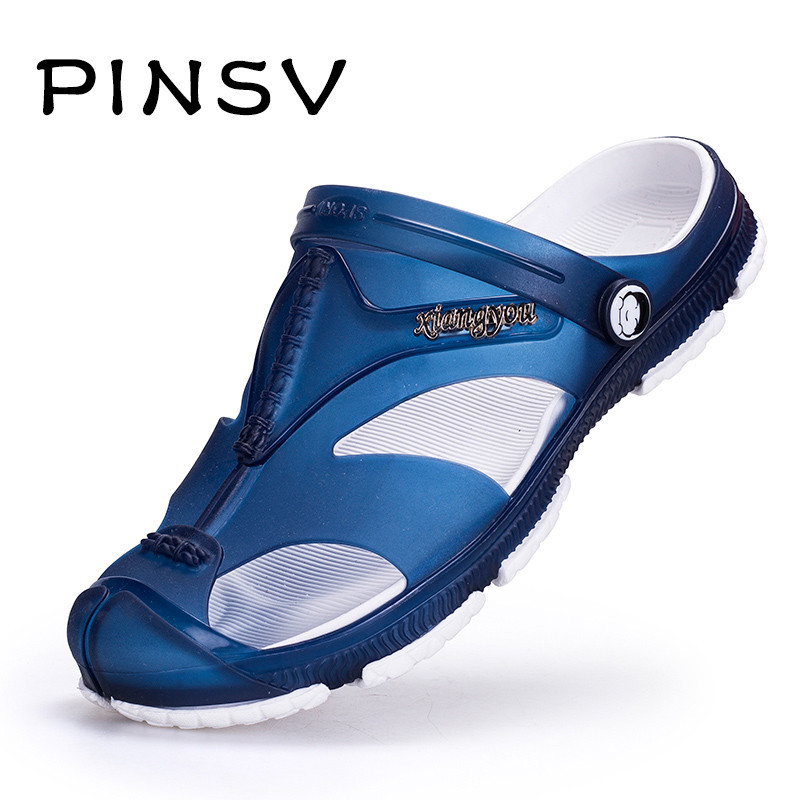 Big Size 45 Summer Shoes Men Sandals Brand Slippers Men Flats Sandals Black Beach Slippers For