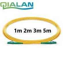 Cable de conexión de fibra óptica, 1m a 5m, LC APC a LC APC, Cable de parche de fibra óptica Simplex 2,0mm G657A PVC 9/125, Cable de puente de modo único
