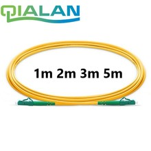 Optical Fiber Patchcord 1m to 5m LC APC to LC APC Fiber Optic Patch Cord Simplex 2.0mm G657A PVC 9/125 Single Mode Jumper Cable