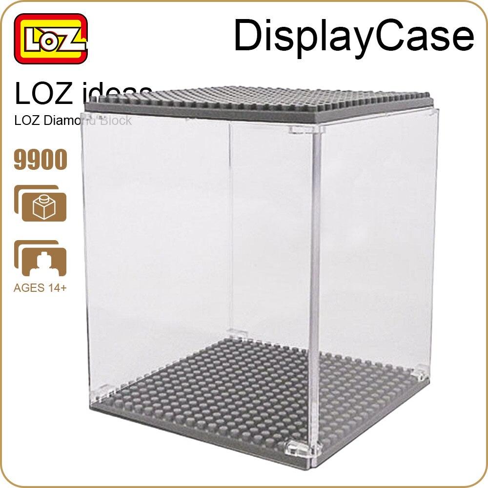 LOZ Diamond Blocks 10cm Plastic Display Case Box Designed For Diamond Building Blocks Nano Pixels Micro Bricks DIY Toys 9900