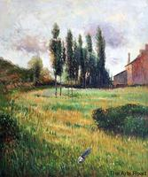 High Quality Paintings for Bedroom Dogs Running in a Meadow, 1888 by Paul Gauguin Painting Reproductions Handmade