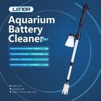 LONDA Fish Tank Water Changer Electric Sand Washing Pump Suction 3 In 1 Aquarium Cleaner Fish