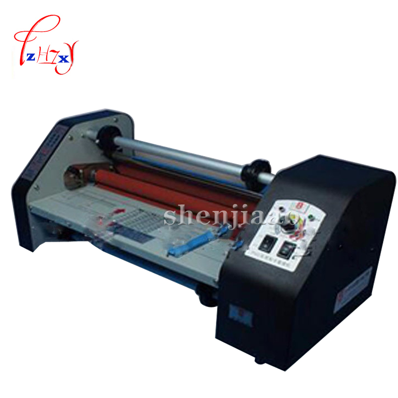 FM-380 paper rolling machine, student paper, paper worker, office file laminator Heating Mode photo plasticizer fm 380 paper laminating machine students card worker card office file laminator steel roll laminating machine