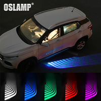 Oslamp HOT Angel Wings Car Welcome Light Automobile Decorative Shadow Light Projector Car LED Door Warning Lamps White/Blue/Red