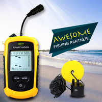 Sonar Fish Finder Echo Sounders For Fishing Deeper Fish Alarms Pesca Sensor FindFish Shore Kayak Fishing Wired Transducer Finder