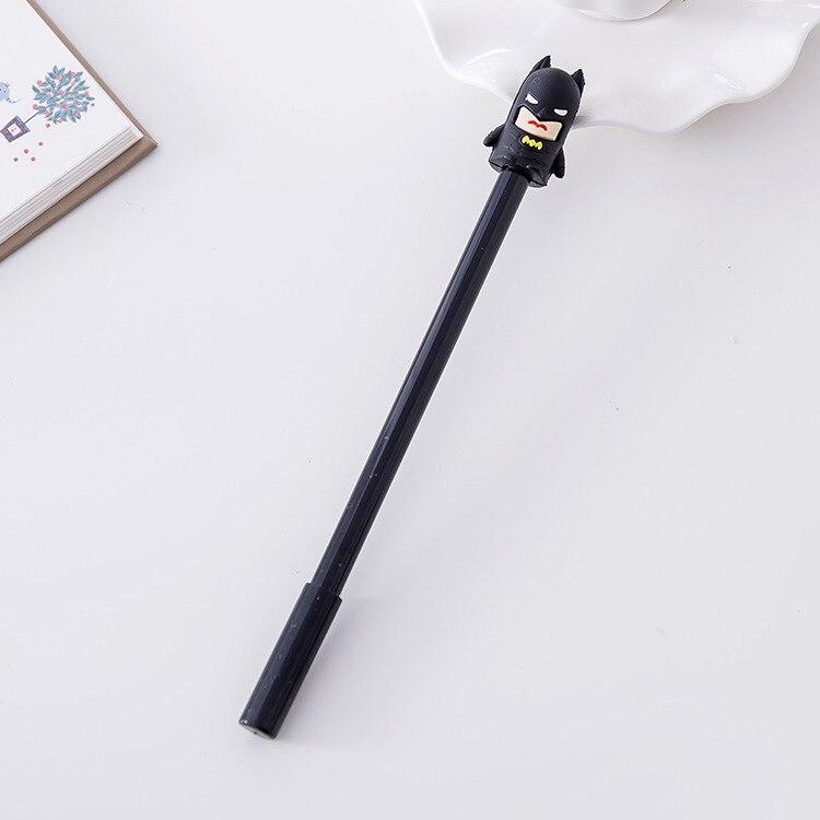 1 PCs Hero Cute Cartoon Black Neutral Pen Pen Student Learning Office Supplies Kawaii School Supplies Pen For Writing