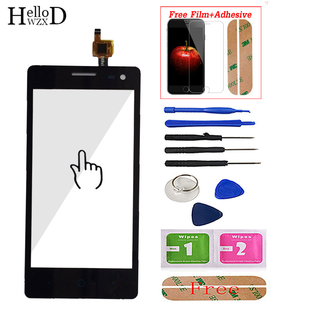 Touch Screen Panel For ZTE Blade GF3 Touch Front Glass Touch Screen Digitizer Panel For ZTE GF3 Lens Sensor Screen Protector(China)