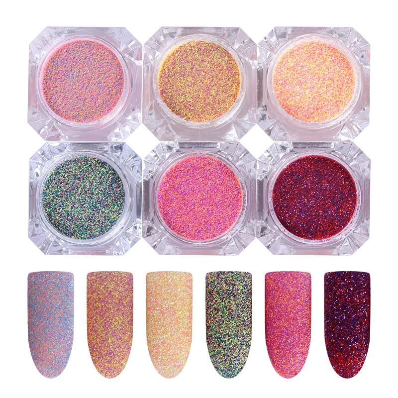 SchöN Mischfarbe Zucker Staub Nagel Sand Glitter Pulver 3g Dazzling Pigment Maniküre Nail Art Dekoration SorgfäLtig AusgewäHlte Materialien Nails Art & Werkzeuge