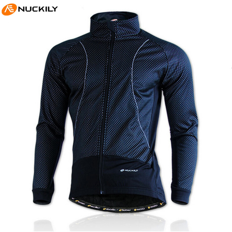 NUCKILY Bike Jacket Clothing Rainproof Fleece Coat Thermal Bicycle Jacket Windproof Ropa Ciclismo Bike Bicycle Cycling Jacket