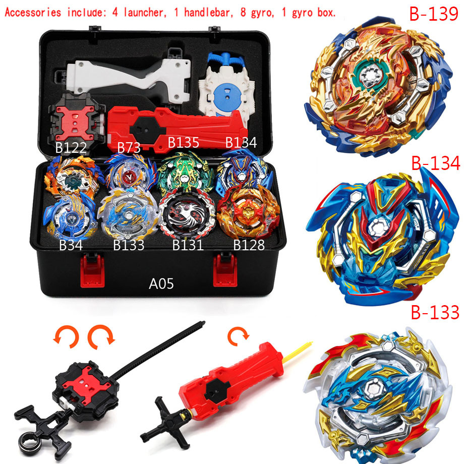 HOT <font><b>Beyblade</b></font> Burst <font><b>B</b></font>-<font><b>134</b></font> Cho-z Valkyrie.z.ev With Blayblade Bayblade Launcher Metal Booster Top Starter Gyro Spinning Fight Toy image
