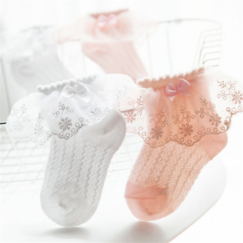 Boys Girls Baby Socks Casual Kids Lace Bow Design Summer Mesh Princess Socks Newborn Princess Sock Infant Summer Thin