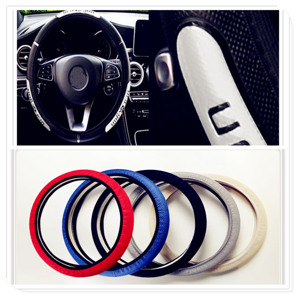 universal Car Steering wheel Cover Anti-Slip styling for <font><b>Hyundai</b></font> Accent Azera Elantra Solaris Verna <font><b>Santa</b></font> <font><b>Fe</b></font> IX45 Sonata image