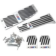 Accesorio del coche de Aluminio Reposapiés M Cojín Del Pedal Set Para BMW X1 E30 E36 E46 E90 E92 E93 E87 car-styling jn23