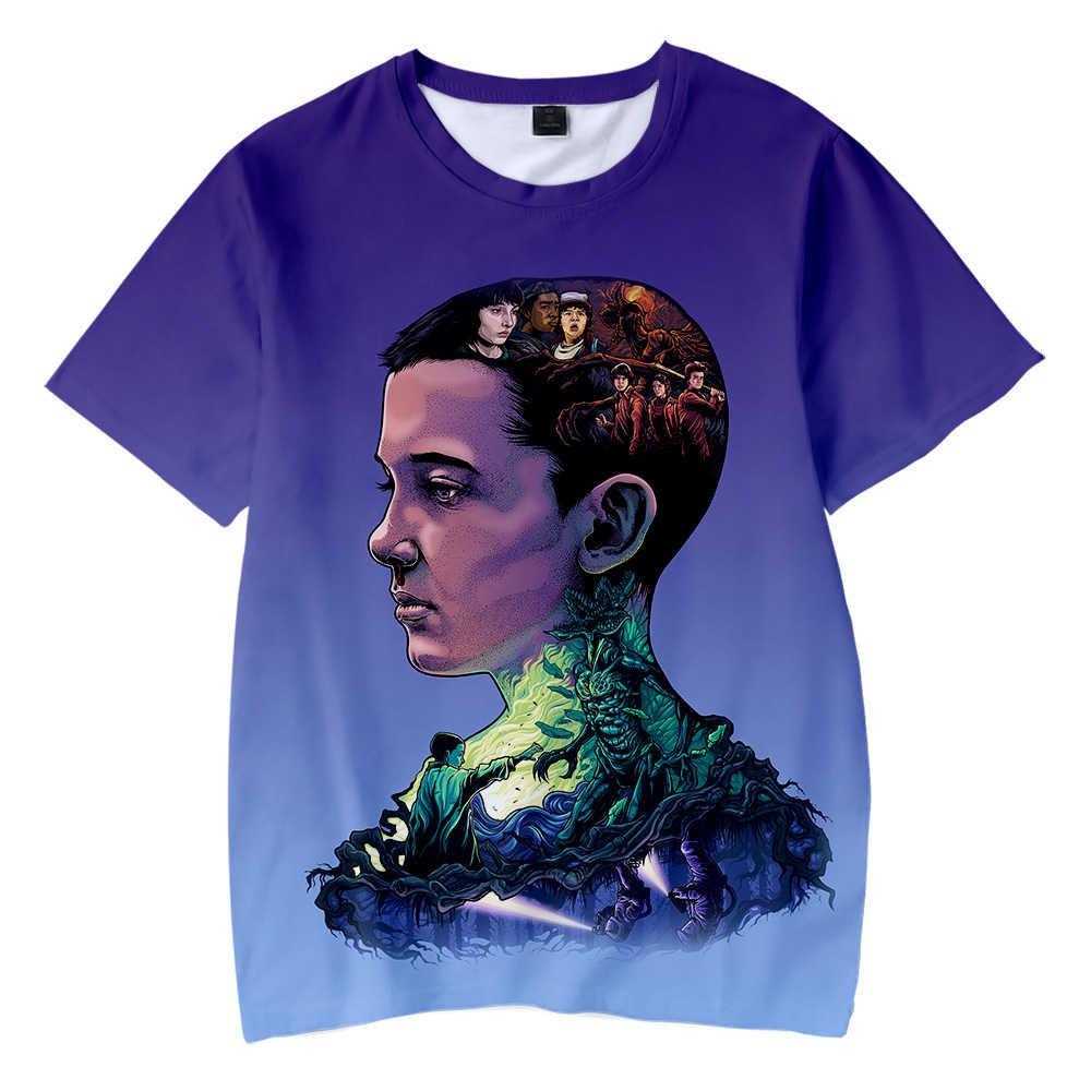Nuovi Bambini di Modo di t shirt Straniero Cose 3D Stampato 2019 T Camicette TV Straniero Cose Del Capretto della maglietta di Marca magliette camicia