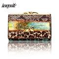 Women Genuine Leather Short Wallet Female Patchwork Lady Purse Carteira Feminina Bowknot Coin Card Clutch Bag Random Color