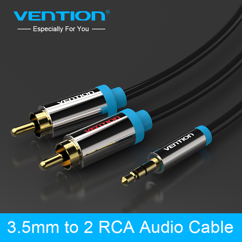 Vention RCA Jack Cable 2RCA male to 3.5 male Audio Cable 2m 3m 5m Aux Cable for Edifer Home Theater DVD VCD iPhone Headphones vention 3 5mm rca audio cable jack to 2 rca aux cable for edifer home theater dvd vcd iphone headphones hifi rca cable1m 2m 3m