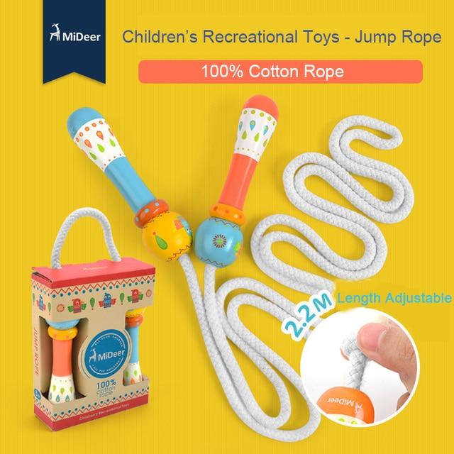 Mideer Children Cartoon Jump Rope 100% Cotton Rope 2.2M Length Adjustable Kids Recreational Toys