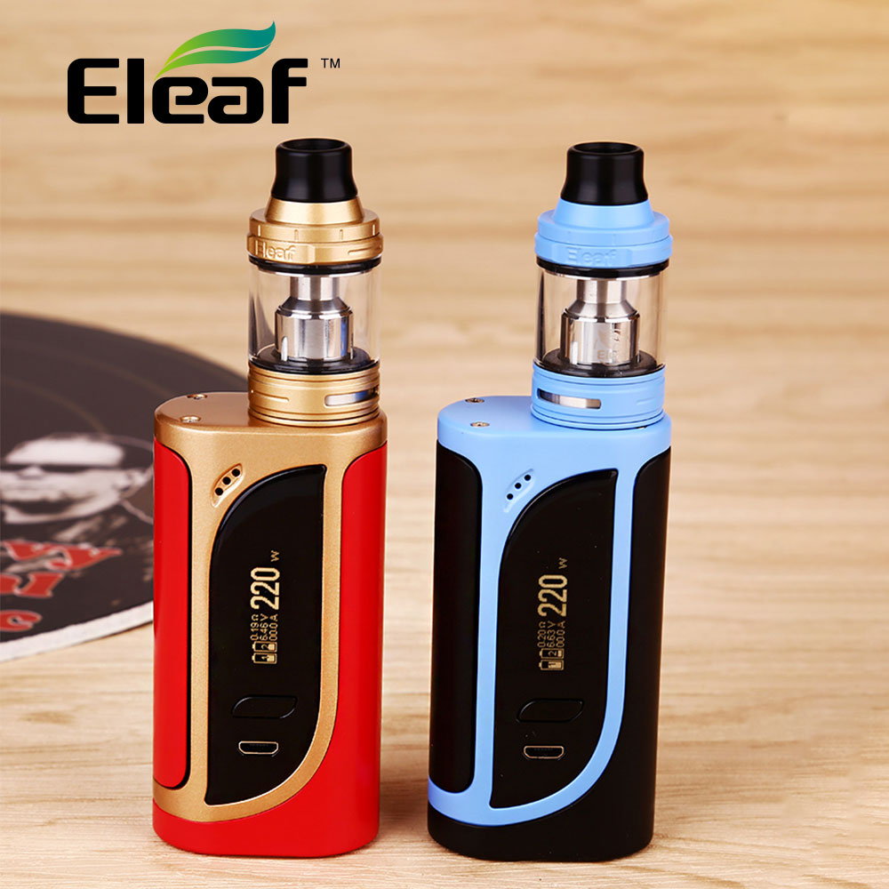 Original Eleaf IKonn 220 TC Full Kit with Eleaf Ello 4ml Atomizer Tank & Eleaf iKonn 220 Box Mod 220W Electronic Cig vs Alien