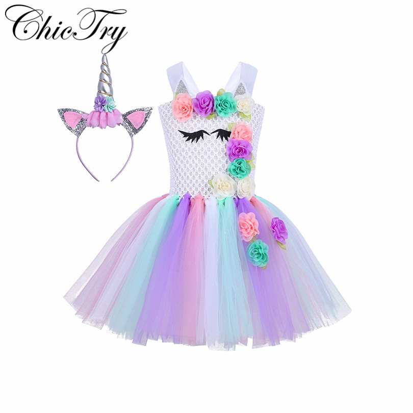 iEFiEL Children Girls Dress Up Clothes Kids Princess Costume Fancy Party Halloween Cosplay Carnival Prom Tutu Tulle Dresses