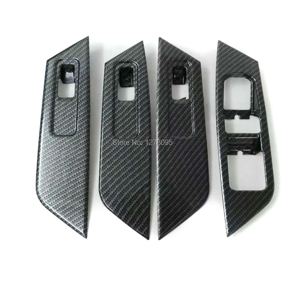 все цены на For Skoda Kodiaq 2017 2018 ABS Window Lift Switch Inner Window Lifter Button Trim Sticker Interior Car Styling Accessory онлайн