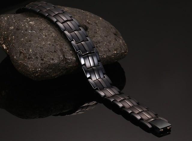 Здоровье 15 мм мужские браслеты и магнитные из нержавеющей стали