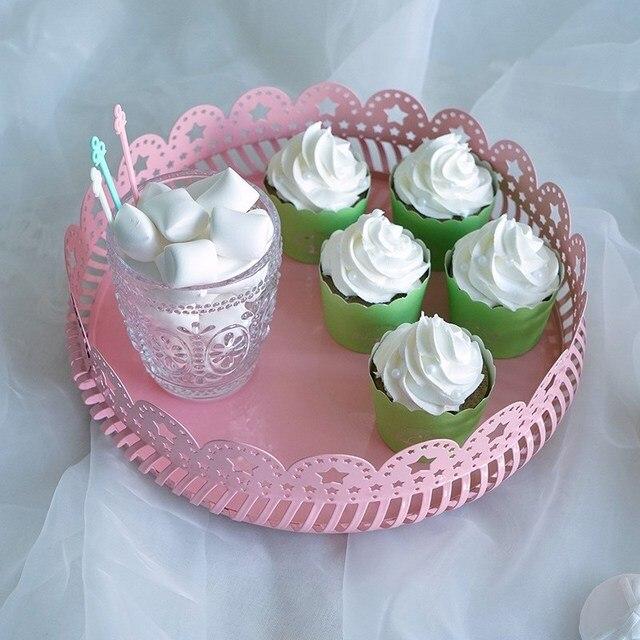 Gâteau De Mariage Plaque Créatif Dessert Accessoires Rose Blanc Fer Fruits Gâteau Rack Nordique Maison Stockage